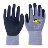 Comfortable Breathable Thinest 15g Micro Foam Nitrile Work Glove