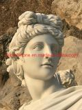 White Onxy Marble Carving Stone Statue for Garden Decoration