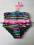 Strip Printing Kids Swimming Wear Baby Bikini for Girls, Kids Wear