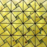 Peel and Stick Tile Backsplash Stick on Kitchen Wall Decor Aluminum Surface Metal Mosaic Wall Sticker
