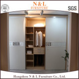2017 Bedroom Furniture Wooden Folding Fabric Sliding Wardrobe