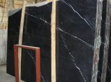 Chinese Cheap Nero Marquina Marble for Flooring Wall Tiles