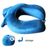 Foldable U Shape Memory Foam Car Travel Neck Pillow