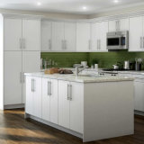 Customized Plywood Kitchen Cabinets with Soft Closed Hinges for Project