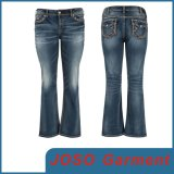 High Quality Women Bell-Bottomed Jeans (JC1101)