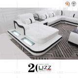 Modern Luxury Italian Design Living Room Furniture LED U Shape Sectional