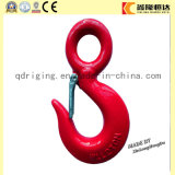 Red Painted Clevis Slip Hook with Safety Latch