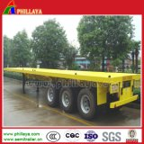 50ton High-Bed 3 Axle 40FT Container Flatbed Truck Semi Trailer
