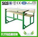 High Quality Classroom Furniture Double Student Desk and Chair (SF-61)