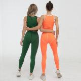 Women 2 Piece Yoga Fitness Clothes Exercise Sportswear Legging Crop Top Gym Clothes Yoga Suit Workout Sets
