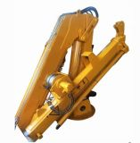 Small Barge Lift Hydraulic Marine Ship Deck Crane for Sale