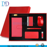 Business Gift Set Corporate Event Souvenirs 7 Piece Customized / Notebook / U Disk / Rechargeable Treasure Red
