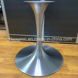 Hot Sale Round Metal Aluminum Trumpet Brushed Table Base Tulip Base with Table Plate