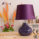 European Hotel Decorative Purple Ceramic Desk Lamp Table Lamp
