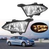 1 Pair Daytime Running Light Clear Front Fog Lights W/ 881 27W Bulbs for Hyundai Elantra 2007~2011 Car External Light Lamp