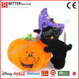Halloween Stuffed Toy Plush Soft Cat and Pumpkin