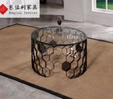Round Coffee Table with Tempered Glass Top