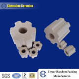 Chemshun New Design Ceramic Flute Raschig Ring with Larger Surface and Higher Efficiency