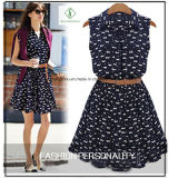 Fashion New Design Women Cotton Shirt Collar Dress Casual Factory