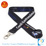 Custom Cheap Polyester Printed Woven Nylon Neck Strap Card Holder Keychain Sublimation Webbing Heat Transfer Printing Tubular Lanyard