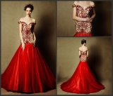 Beaded Red Bridal Dress Cap Sleeves Wedding Gowns L28