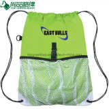 Lightweight Cheap Custom Polyester Drawstring Backpack with Mesh Pocket