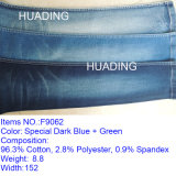 Indigo Cotton Yarn Dyed Denim Fabric Wholesale for Jeans (F9062)