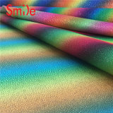 PVC Vinyl Printing Leather Materials for Handbag Shoes Wallet Rainbow Printing Rexine
