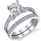925 Sterling Silver Engagment Ring 925 Sterling Silver with AAA CZ