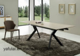 Factory Modern Design PVC/MDF Top Metal Dining Table