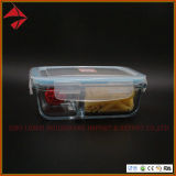 Plastic Lid Storage Glass Food Container Glass Box with SGS