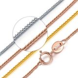 Stainless Steel Wheat Chopin Chain Fashion Jewelry for Necklace Bracelet Gift Handcraft Design
