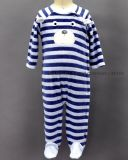 80%Cotton 20%Polyester Yarn Dyed Baby Romper