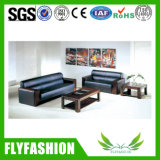 Classical Design Office Furniture Genuine Leather Sofa Set (OF-02A)