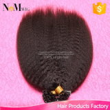 Keratin U Tip Peruvian Hair 1 Gram Each Strand Nail Tip Fusion Human Hair Extension Peruvian Kinky Straight Virgin Hair