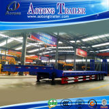 Heavy Duty 2 Axle Crane Transport Lowbed Semi Trailer