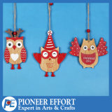 Wooden Cute Owl Design for Christmas Tree Decorations