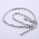 Hot Selling Jewelry Stainless Steel Necklace Flat Chain Cable Chain