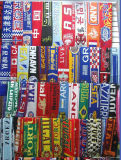 Knitted Acrylic Custom Football Scarf for Fans