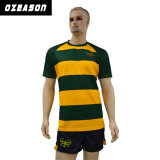 Wholesale Customized Striped Tight Fit Professional Adult Rugby Shirts (R005)