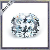 Cushion 7.5X6.5mm Synthetic Aquamarine Zirconia Stone