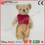 Safe Material Plush Soft Teddy Bear Doll in Cloth Toys for Baby