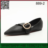 New Design Flat Pointed The Belt Lady Shoes
