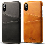 Premium Quality Leather Back Credit Phone Case for iPhone X