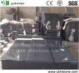 Cheap Price New G654 Granite Single/Double Tombstone with Poland/European Style