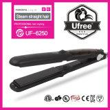 Superb Titanium Plate Mch Fast Heating Ionic Ceramic Steam Hair Straightener Flat Iron for Hair Straightening Black
