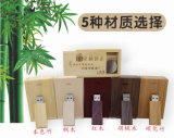 Engrave Logo Wooden USB Pen Drive Square Wood Flash USB with Wood Gift Box