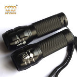 Aluminium 3W Zoomable Mini Tactical LED Flashlight Torch