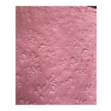100%Polyester Pink Woven Jacquard Side Stretch Fabric