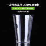 7.5oz 230ml Straight Plastic Disposable Coffee Wine Water Tea Juice Cup with Lips